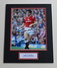 ARTHUR ALBISTON Manchester United HAND SIGNED Autograph Photo Mount + COA