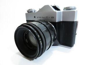 Zenit B - 35mm Film Camera Helios 40mm 2/58 Lens & Original Leather Case