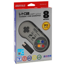 Buffalo Super Nintendo Turbo SNES Retro Classic USB Gamepad for PC Windows Gray