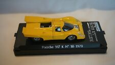 Solido Retro Le Mans Porsche 917 K No.18 1970 Yellow * Decals in Box 1:43