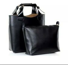 black faux leather PU hand / shoulder bag with small inner bag new no tags