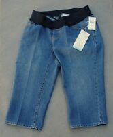 Oh Baby by Motherhood Maternity Capri Jeans Underbelly Denim Size Medium NWT