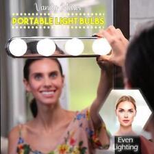 Vanity Mirror Portable Light Bulbs 4 LED Studio Glow Make Up Bright Cosmetic New