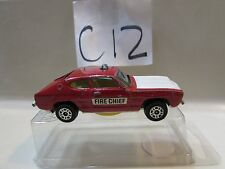 CORGI JUNIORS FORD CAPRI WHIZZWHEELS FIRE CHIEF GREAT BRITAIN
