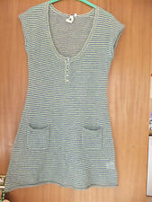 "White Stuff Dress Jumper Dress Long Top With Pockets Size 12 L33"" Green Striped"