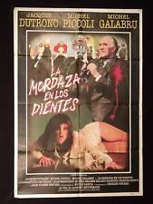 LE MORS AUX DENTS * JACQUES DUTRONC * PICCOLI * ARGENTINE 1sh MOVIE POSTER 1979