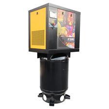 75hp 230v 1ph Rotary Screw Air Compressor 18cfm125psi 60gallon Asme Tank Hpdmc