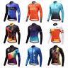Reflective Cycling Jersey Men's Long Sleeve Bike Bicycle Cycle Jersey Shirts Top