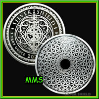 2021 1oz Torus Flower of Life Proof Silver Shield Sacred Geometry #10 ***