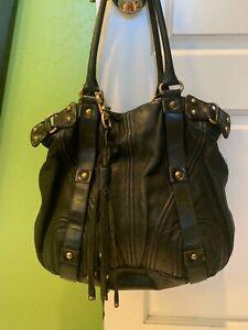 Botkier Large Hobo Bag Bombay Black Studded Leather