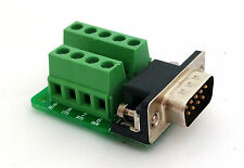 DB9 DSUB 9-pin Male Adapter RS-232 Breakout Board Connector (D5)