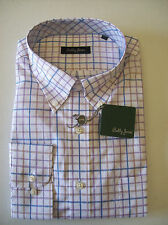 Bobby Jones 100% Cotton Button Down Windowpane Check Sport Shirt NWT Large $145