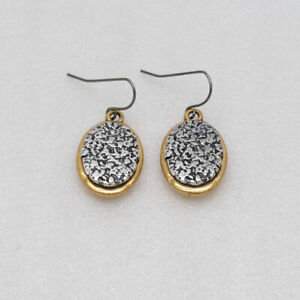 chico's women jewelry unique gold plated silver tone oval shape hook earrings