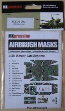 MXpression 35003 Airbrush Schablone Hetzer, late Scheme 1:35