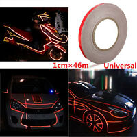 46M Red Reflective DIY Stripe Tape for Auto Car Body & Exterior Styling Decor
