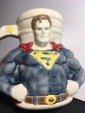 New listing Vintage Superman Ceramic Mug Dc Comics Ceramic Mug Large Rare!