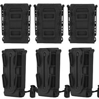 1/2/3 Pack Tactical Molle Magazine Pouch 5.56 9mm Rifle Rifle Mag Carrier Holder