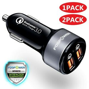 Dual USB Fast Quick QC 3.0 Car Charger for Samsung Galaxy S20 Ultra S10 Z Flip