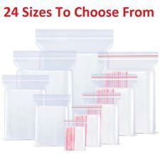 PE de Calidad Alimentaria Bolsas de Plástico Transparente Agarre Sello del uno mismo resellable bolsas de almacenamiento