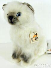 Kosen Of Germany #4482 New Sitting Birman Kitten Plush Cat Toy With Blue Eyes