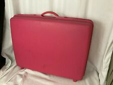 """Vintage Samsonite Saturn Pink Hardside Luggage Large Suitcase VERY CLEAN 26"""""""