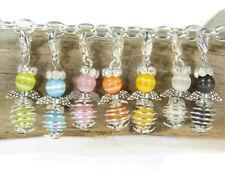 10 kleine zierliche Engel Anhänger Bastelset Farbmix bunt Drahtperle Perlenengel
