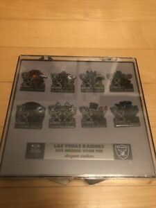 2020 Las Vegas Raiders Inaugural Season Allegiant Stadium Pin Set Of 8 Sealed