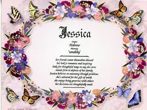 """""""Butterflies"""" Name Meaning Print Personalized (Animals, Insects)"""