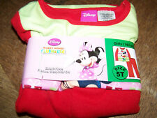 Size 18 Months Disney Minnie Mouse Holiday Flannel Pajamas Set Top Pants New