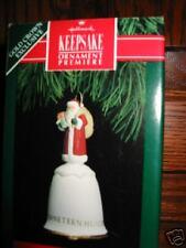 Hallmark Santa's Premiere Porcelain Bell 1991 MIB