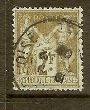 """FRANCE STAMP TIMBRE N°105 """"TYPE SAGE 2F BISTRE SUR AZURE """" OBLITERE TB"""