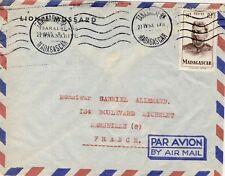 SEUL SUR LETTRE TANANARIVE MADAGASCAR / MARSEILLE 1953