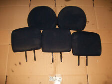 PEUGEOT 206 2002 3DR FULL SET OF 5 HEADRESTS ( DARK BLUE TEXTILE )