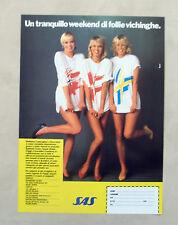 E173 - Advertising Pubblicità -1987- SAS , UN WEEKEND DI FOLLIE VICHINGHE
