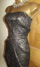 KAREN MILLEN ❤️  GOLD BLACK BROCADE PARTY MINI DRESS Size UK 10 COCKTAIL
