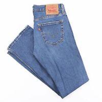 Vintage LEVI'S 527 Waterless Blue Denim Slim Bootcut Jeans Mens W29 L32