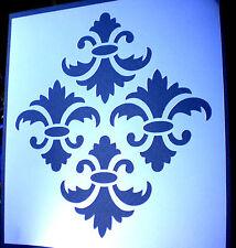 high detail airbrush stencil damask seventeen  pattern FREE UK POSTAGE