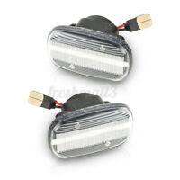 2X LED Side Indicator Light Turn Signal For Toyota Corolla Hilux sr5 Yaris Clear