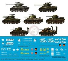 Peddinghaus 1/87 (HO) Sherman Tank Markings Pacific & Europe WWII (7 tanks) 3215