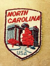 NORTH CAROLINA STATE PATCH WITH USA EMBROIDERED
