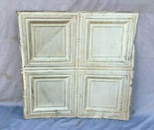 "Antique Tin Metal Ceiling  2' x 2' Shabby VTG Old 24"" SQ Chic  Gray 1158-20B"
