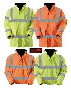 Blackrock Hi Vis Fleece Quilt Lining Coat Warm High Viz Visibility Bomber Jacket