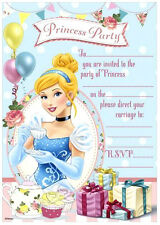 Disney PRINCESS INVITATIONS 20 Sheets includes Envelopes Girls Invites Birthday