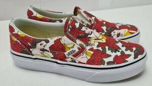 Vans Disney Belle True White Print Canvas Shoes Trainers Size 2 UK 33 EUR     70