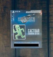 Final Fantasy VII 7 Remake Cactuar Summoning Materia DLC Slip, NO GAME