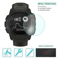 Ultra Slim Tempered Glass Screen Protector for Garmin Instinct Smart Watch Kits