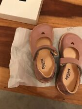5185fef0 Angulus Rose Pink Heart Mary Jane Shoes BNIB Infant 28