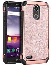 LG Stylo 3 3 Plus Case Cover Case Glitter Hybrid Shockproof Protective Rose Gold