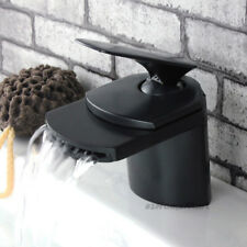 Bathroom Basin Faucet Black ORB Mixer Tap Waterfall Counter Sink Bibcock