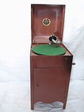 Child's Carola Antique Crank Phonograph Cabinet Record Player
